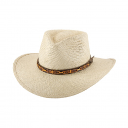 Magic Island Traveller Hat Natural Straw - Bullhide
