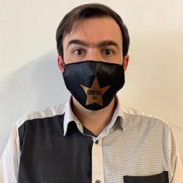Masque Cinéma Fantaisie Élastique Noir- Traclet