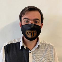 Masque VIP Fantaisie Élastique Noir- Traclet