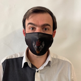 Masque Rock 'N' Roll  Fantaisie Élastique Noir- Traclet