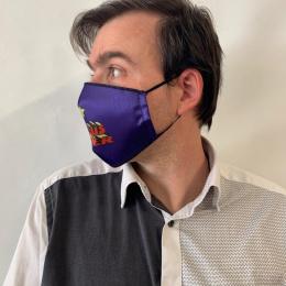 """Masque """"Je suis super"""" Fantaisie Élastique Noir- Traclet"""