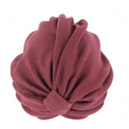 Turban Chimiothérapie Coton Prune- Traclet