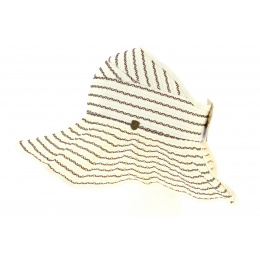 Ivory Fabric Roll Up Visor - Traclet