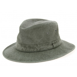 Brisbane Safari Hat Khaki Cotton-Crambes