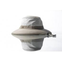 Chapeau Parisien Moyen Bord Blanc & Beige- Soway