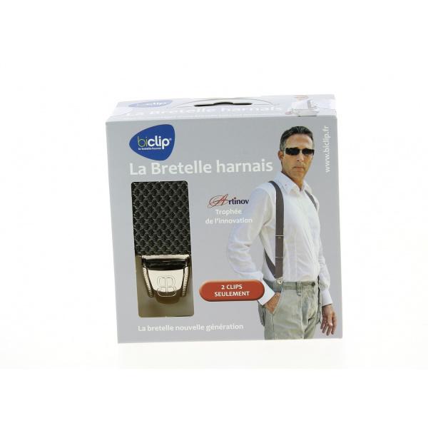 Bretelles Harnais Biclip® Fantaisie Losange Kaki- Biclip