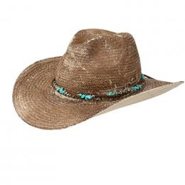 Chapeau Cowboy Paille Naturelle Marron- Stetson