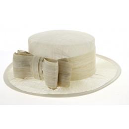 Chapeau de cérémonie Gaby Ecru- Traclet