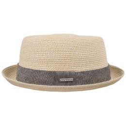 Porkpie Robston Toyo Cream Hat- Stetson