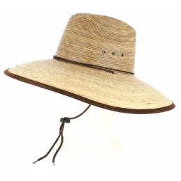Traveller Hat Twilight Wide Straw Brim Natural Straw - BullHide