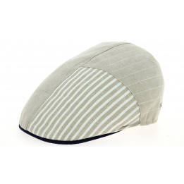 Casquette Plate Ron Beige & Jean Lin- Traclet