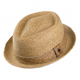 Tear PorkPie Raffia Hat