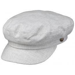 Navy Cotton & Linen Beige Cap - Traclet