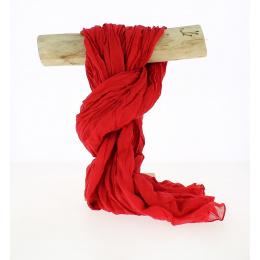 Chèche Torsade Coton Rouge -Traclet