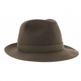 Fedora Hat Le Chazelles Felt Felt Hair Brown - Arrow