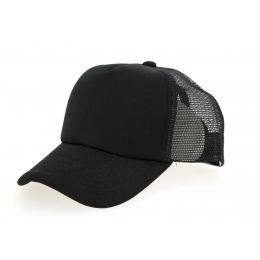 Casquette Trucker Polyester Noire- Traclet