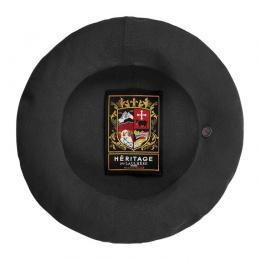 Authentic Summer Cotton Black Beret - Heritage by Laulhère