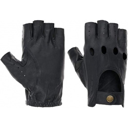 Stetson Dark Blue Leather Summer Driving Mittens - Stetson