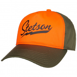 Casquette Trucker Signal Orange Néon & Kaki- Stetson