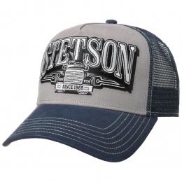 Trucker Trucking Cap Navy Blue & Grey - Stetson