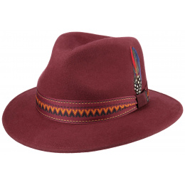 Traveller Hat Wool Felt Bordeaux- Stetson