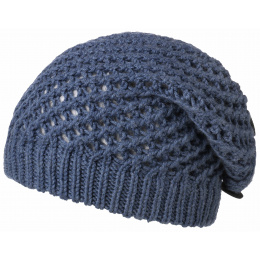 Barascon Wool Beret Knit Blue- Traclet