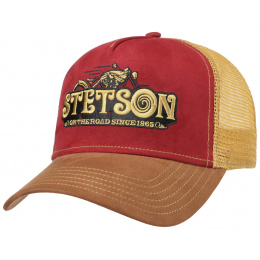 Casquette Baseball Trucker On the Road Coton- Stetson