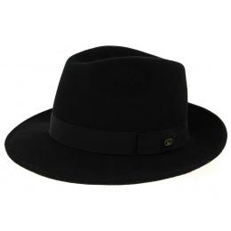 Chapeau Fedora Hubert Feutre Laine Noir- Traclet