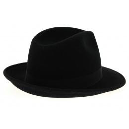 Chapeau fedora hubert feutre laine noir-traclet