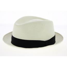 chapeau porte paille panama blanc -traclet