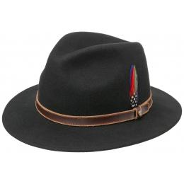Black Wool Felt Traveller Hat - Stetson