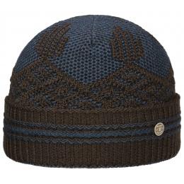 Bonnet Laine Marron & Bleu- Stetson