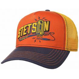 Trucker Connecting Orange & Yellow Cap- Stetson