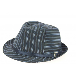 chapeau karma navy trilby -traclet