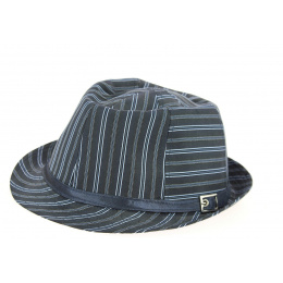 chapeau karma navy trilby -traclet