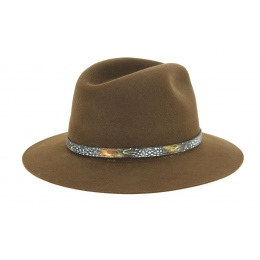 Dakota Traveller Hat Dakota Felt Brown- Guerra Hair Hat