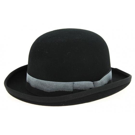 Derby Hat Black Wool Felt Derby Hat - Hatland