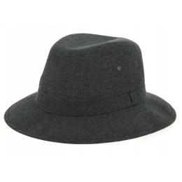 Safari Hat Chambray Black Cotton - Crambes