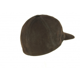 Casquette Baseball Cuir Marron- City Sport
