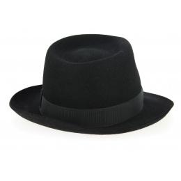 Chapeau Fedora Feutre Poil Noir- Wegener