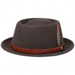 Porkpie Hat Brown Wool Felt - Stetson