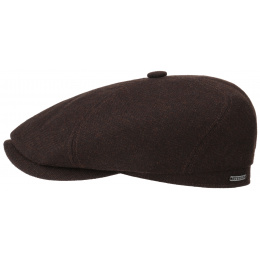 Brooklin Wool, Cotton & Cashmere Brown Cap - Stetson