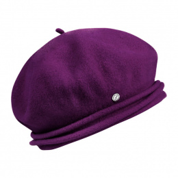Chopin Wool Plum Beret - Heritage by Laulhère