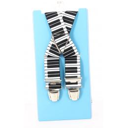 Bretelles Piano noir et blanc - Traclet