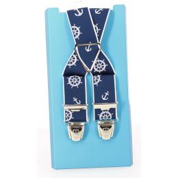 Bretelles Marin couleur bleu - Traclet