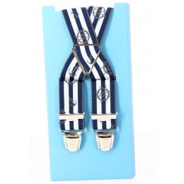 Bretelles Marin Rayure bleu& blanc - Traclet