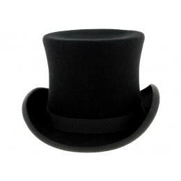 Chapeau haut de forme Feutre Laine Noir - Traclet