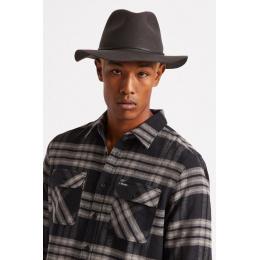 chapeau traveller wesley noir delavé - Brixton