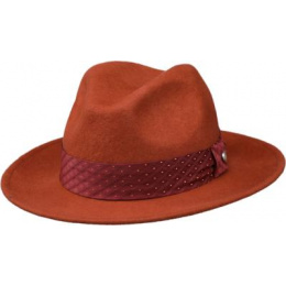 wool felt hat rust