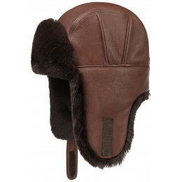 Chapka Fairbanks en cuir Marron - Stetson